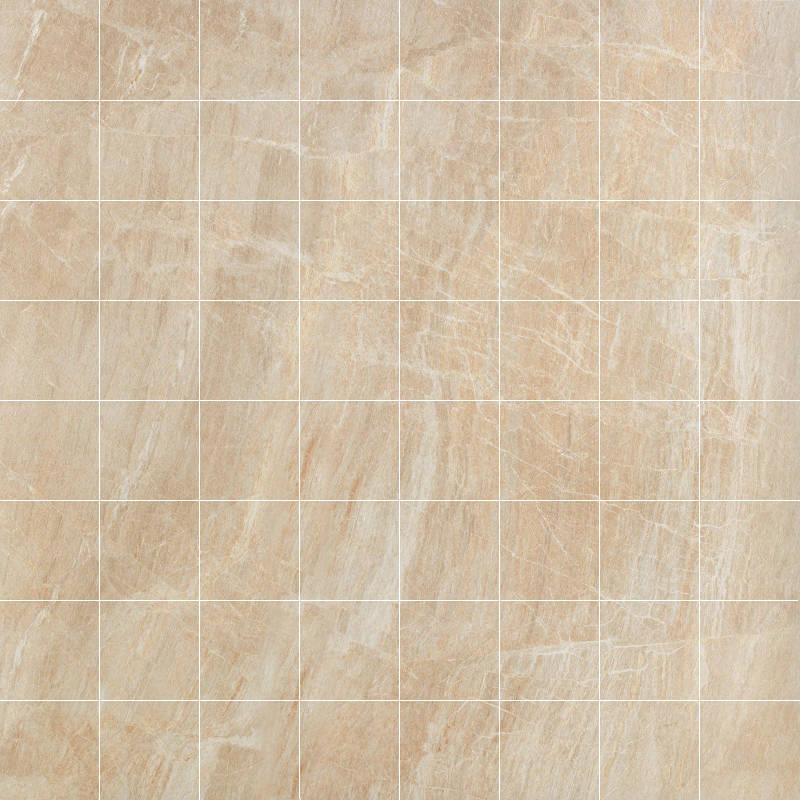 Anthology 2x2 Mosaic Floor Tile 1675x1675 Beige 1 Piece