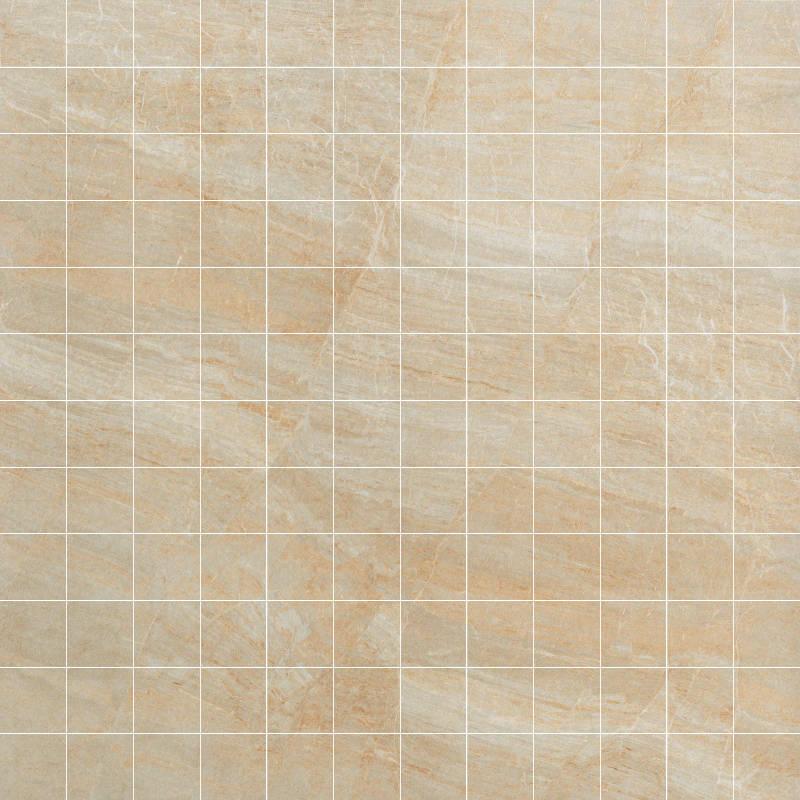 Anthology 1x1 Mosaic Floor Tile 12x12 Beige 1 Piece