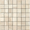 Travertini Matte 2X2 Mosaic Floor and Wall Tile 17X17 Beige (1 Piece)