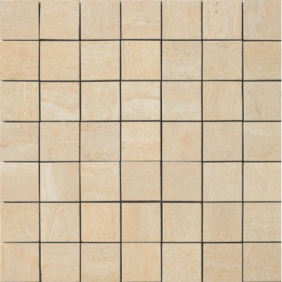 Travertini Matte 2X2 Mosaic Floor and Wall Tile 17X17 Cream (1 Piece)