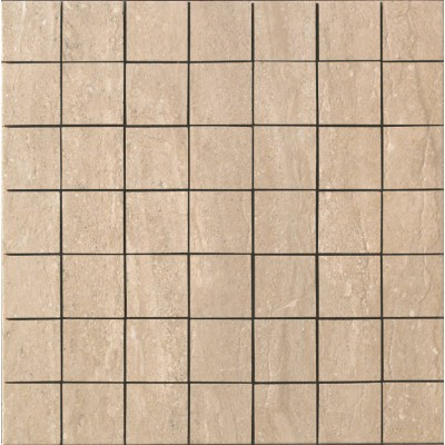 Travertini Matte 2X2 Mosaic Floor and Wall Tile 16.75X16.75 Noce (1 Piece)